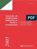 Universidad de Palermo (2005) Jornadas de reflexión, Formación de profesionales reflexivos en diseño y comunicación.pdf