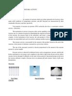 Biochem EXP. on Enzyme Procedure B
