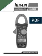 manua alicate amperimetro hikari