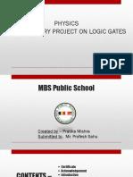 Physics Investigatory Project on Logic Gates