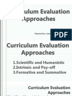 Curriculum Evaluation Approaches