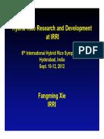 Fangming Xie_Hybrid Rice Research Development at IRRI