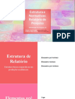 Relatorio Metpesq III Estrutura e Normativas