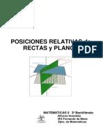 97 Posiciones Relativas Rectas Planos
