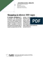 Unique Shopping Parauapebas oferece 300 vagas