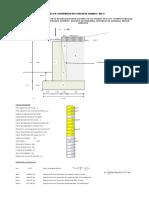 Diseño Muro Cont. C° A° MC-2 H=3.00
