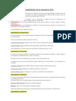 Especialidades de La Ingeniería Civil