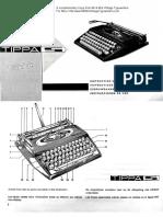 Adler Tippa Tippa S Typewriter Instructions Manual