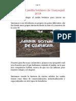 Informe Del Jardín Botánico de Guayaquil 2018