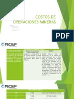 Costos de Operaciones Mineras