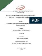 Las Ciencias Forenses y La Criminalística de Laboratorio
