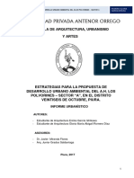Estrategias Para Una Propuesta El Desarrollo Urbano Ambiental Del Aa.hh Polvorines - Sector A
