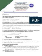 Allowance Letter