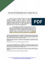 Política de dividendos en FPL Group Inc.