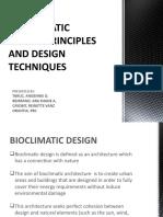 Bio Climatic Design Principles and Design Techniques