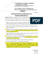 Notice Industrial Training