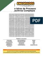 Sopa de Letras de Procesos Cognoscitivos Complejos