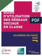 Guide Utilisation des Réseaux Sociaux Clemi Dane de Paris