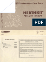Heathkit IT-1121 Curve Tracer Manual