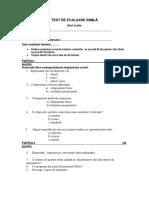 Interpretare test initial tic V