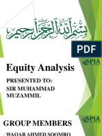 Equity Analysis