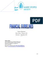Financial guidlines
