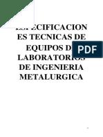 Proyecto Ing. Metalurgia - Unjfsc