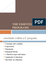 The Essentials of C Programs - Class 3