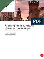 Ciudad y poder en La Novela de Ferrara de Giorgio Bassani