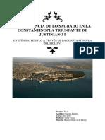 La Influencia de Lo Sagrado en La Constantinopla Triunfante de Justiniano i