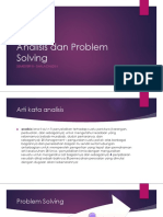 Analisis Dan Problem Solving