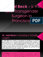 Dr. Joel Beck - is the best Transgender Surgeon in Francisco.