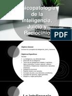 Inteligencia, Juicio y Raciocinio