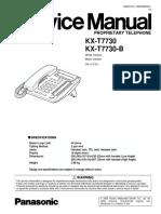 Panasonic Kx t7730 Kx t7730 b