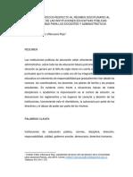 Vacíos Jurídicos Respecto Al Régimen Disciplinario Al Interior de Las Instituciones Educativas Públicas Colombinas Para Los Docentes y Administrativos