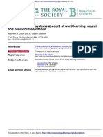 A complementary systems account of word learning