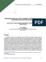 Habilidades sociales y éxito académico