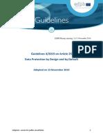 Edpb Guidelines 201904 Dataprotection