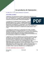 Posología de Los Productos de Immunotec