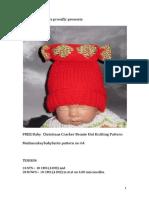 Free Baby Christmas Cracker Beanie Hat