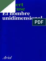 Marcuse, Herbert. El hombre unidimensional.pdf