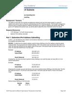 8.1.4.6 Lab - Calculating IPv4 Subnets (2)