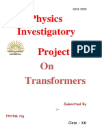 242804463 Project on Transformers Class XII