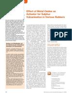 Effect of Metal Oxides as Acivator
