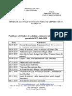 Planificarea Activitatilor de Socializare 2019-2020