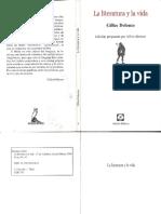 La literatura y la vida - Gilles Deleuze