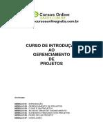 Curso - Gerenciamento de Projetos