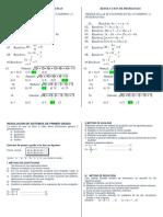 Resolución de Sistemas de Primer Grado
