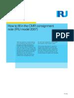 How to Fill Cmr Model Iru 2007 En