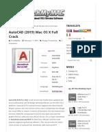 AutoCAD (2019) Mac OS X Full Crack - CrackMyMAC